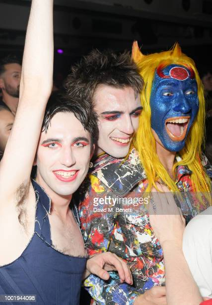 Niall Underwood and Charles Jeffrey attend the Charles Jeffrey LOVERBOY x MAC Pro Party at 180 The Strand on July 19 2018 in London United Kingdom