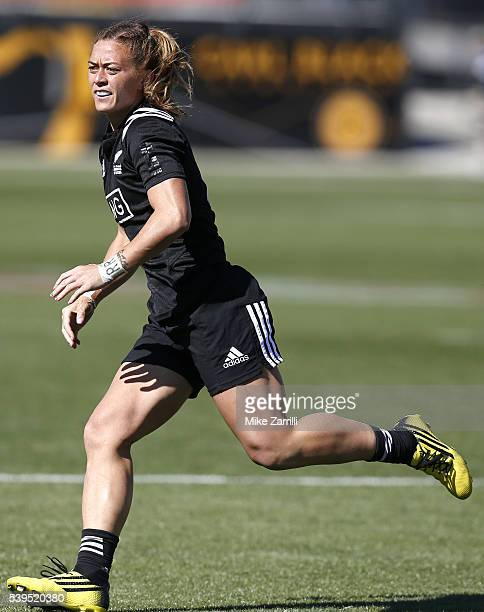Niall Williams of New Zealand runs during the match against France at Fifth Third Bank Stadium on April 9 2016 in Kennesaw Georgia
