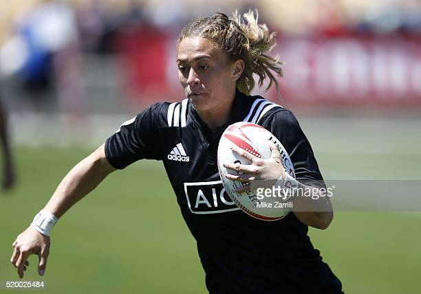Niall Williams of New Zealand runs with the ball during the match against France at Fifth Third Bank Stadium on April 9 2016 in Kennesaw Georgia