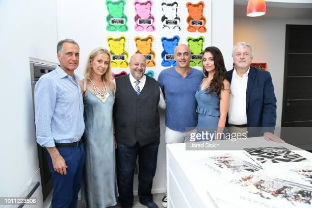 Nials Cohen Iren Kouptsopa Raphael Avigdor Alex Tahsili Aleksandrina Penkova and Stewart Edelman attend A Hamptons Pop Up Exhibition By Manhattan's...