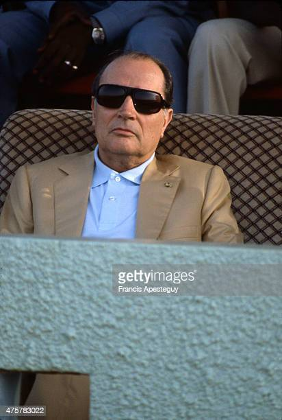 Niamey Niger French president Francois Mitterrand during an official visit to Niger