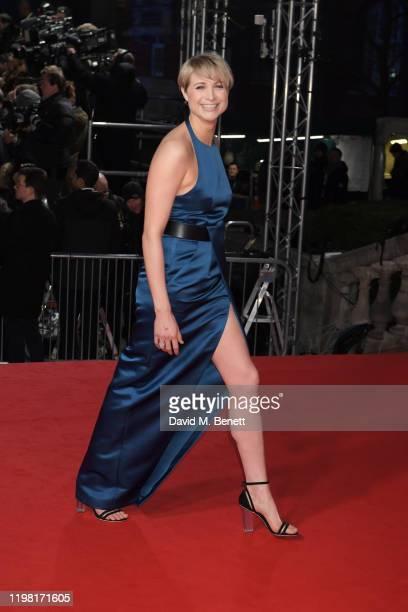 Niamh Algar arrives at the EE British Academy Film Awards 2020 at Royal Albert Hall on February 2 2020 in London England