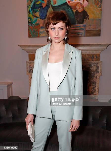 Niamh Algar attends a private dinner hosted by Louis XIII with cellar master Baptiste Loiseau at The Arts Club on March 26, 2019 in London, England.