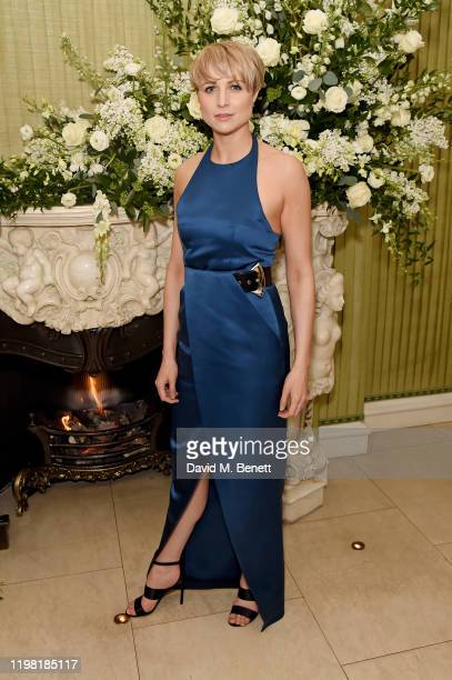 Niamh Algar attends the British Vogue and Tiffany Co Fashion and Film Party at Annabel's on February 2 2020 in London England