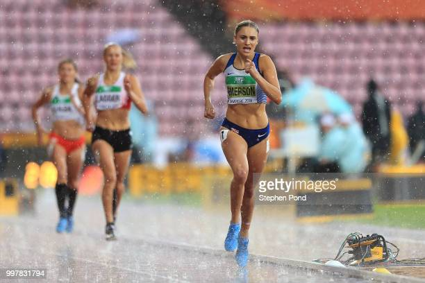 Niamh Emerson of Great Britain in action during the women's heptathlon 800m during day five of The IAAF World U20 Championships on July 13 2018 in...