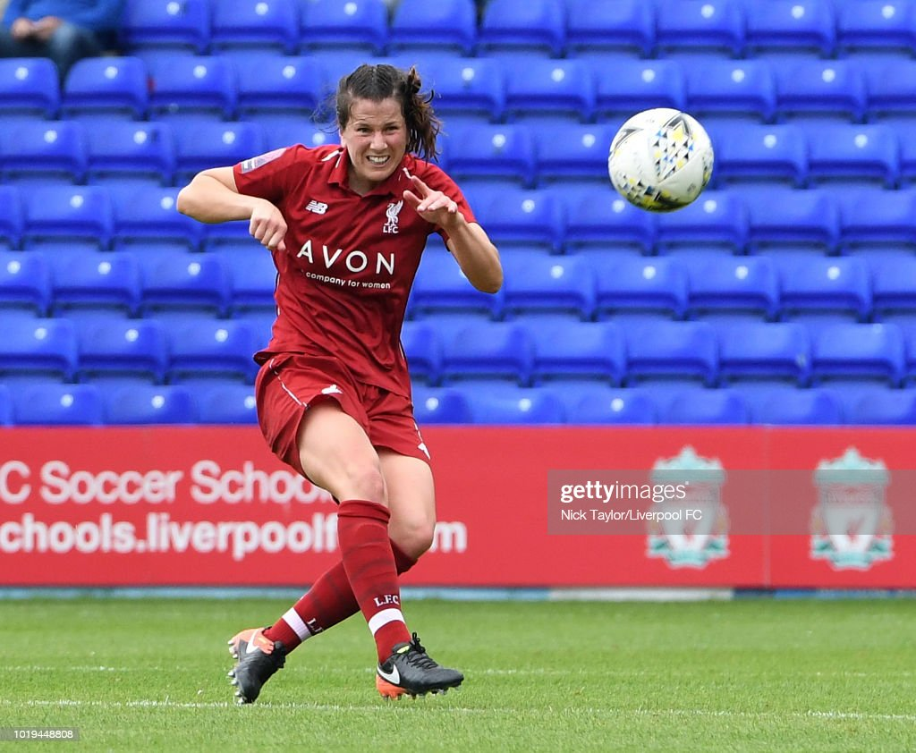 Niamh Fahey of Liverpool FC Women in action during the Liverpool FC