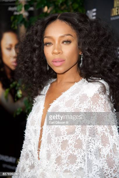Niatia 'Lil Mama' Kirkland attends the Premiere Of TV One's 'When Love Kills' at Harmony Gold on August 22 2017 in Los Angeles California