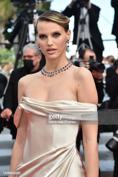 """Nibar Madar attends the """"France"""" screening during the 74th annual Cannes Film Festival on July 15, 2021 in Cannes, France."""