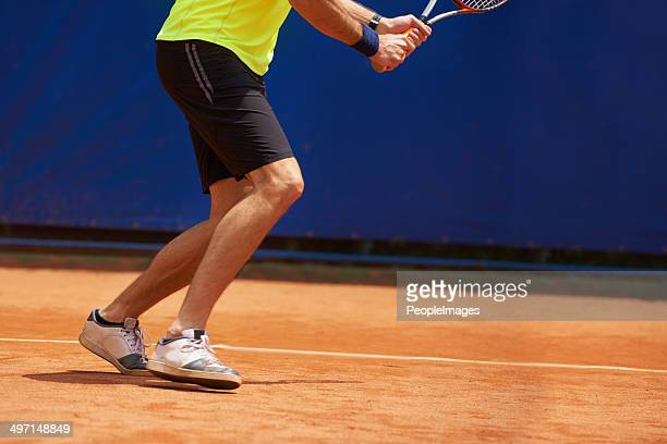 Nibble footwork is a benefit on the clay court