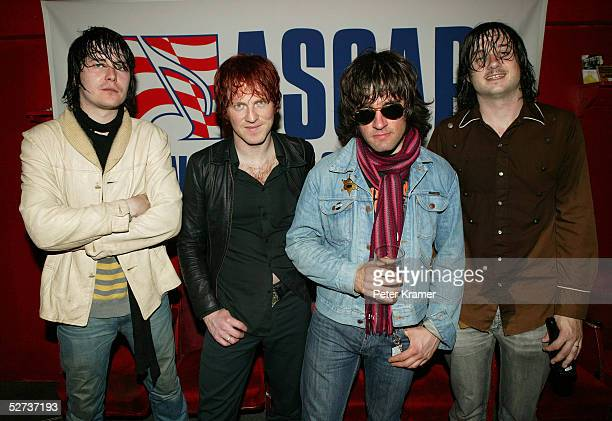 Nic Armstrong and the Thieves pose for a photo at The ASCAP Music Lounge at the Tribeca Film Festival April 29 2005 in New York City