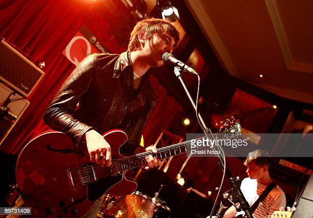 Nic Cester and Mark Wilson of Jet perform at Hard Rock Cafe London on August 10 2009 in London England