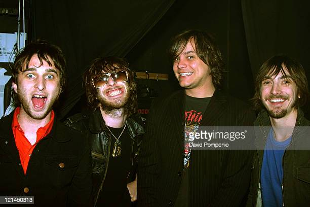 Nic Cester Chris Cester Mark Wilson and Cameron Muncey of Jet