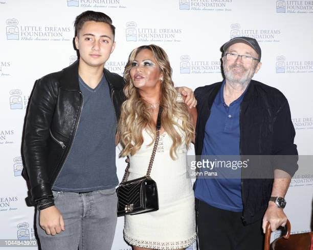 Nic Collins Orianne Collins and Phil Collins are seen at Little Dreams Foundation's Little Dreamers 2018 at The Lounge at The Setai on October 2 2018...