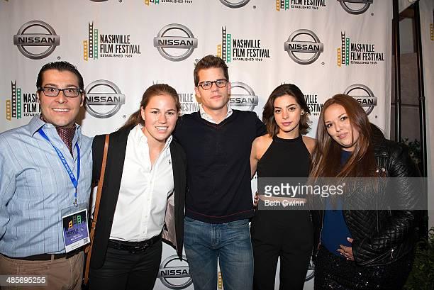 Nic Emiliani Lauren Avinoam Max Carver Gia Mantegna and Lauren Hogarth attend day 3 of the 2014 Nashville Film Festival at Regal Green Hills on April...