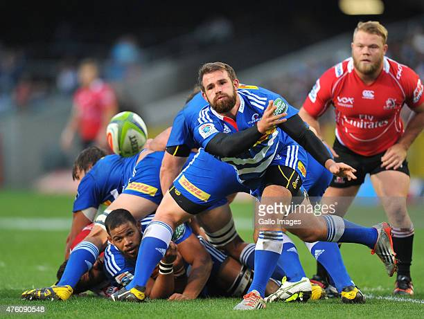Nic Groom of the Stormers during the Super Rugby match between DHL Stormers and Emirates Lions at DHL Newlands Stadium on June 06 2015 in Cape Town...