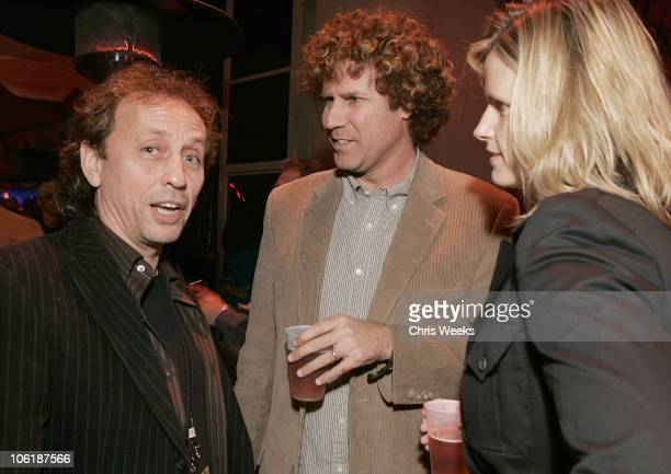 Nic Harcourt Will Ferrell and Viveca Ferrell during KCRW Presents 'A Sounds Eclectic Evening' at Gibson Amphitheatre in Universal City California...