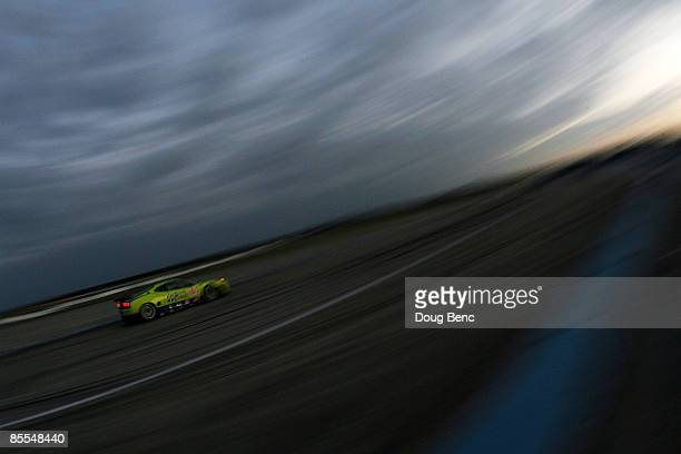 Nic Johsson driver of the Risi Competizione Gerrari 430 GT drives into turn 16 during the 57th Annual Mobil1 12 Hours of Sebring at Sebring...