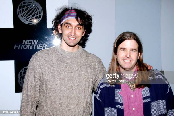 """Nic Koller and Weston Rio Morgan of """"Flowers and Switchblade"""" attend the New Frontier Press Preview during the 2020 Sundance Film Festival at New..."""