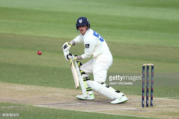 Nic Maddinson of NSW bats during day two of the Sheffield Shield match between New South Wales and Victoria at North Sydney Oval on November 25 2017...