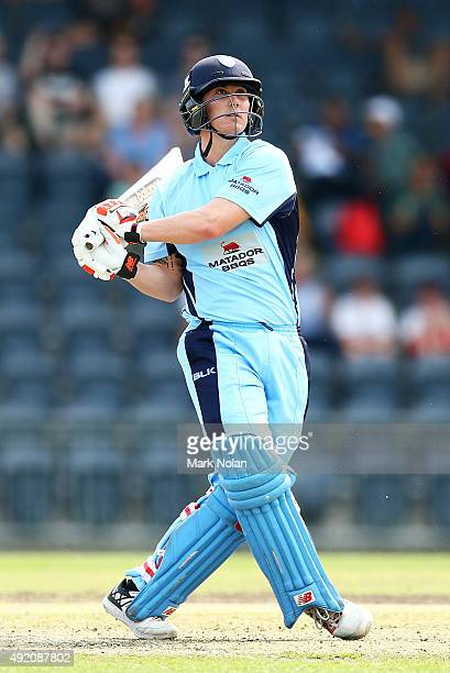 Nic Maddinson of the Blues bats during the Matador BBQs One Day Cup match between New South Wales and Western Australia at Blacktown International...