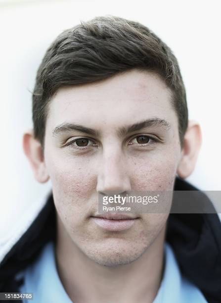 Nic Maddinson of the NSW Blues poses at the Sydney Cricket Ground on September 12 2012 in Sydney Australia