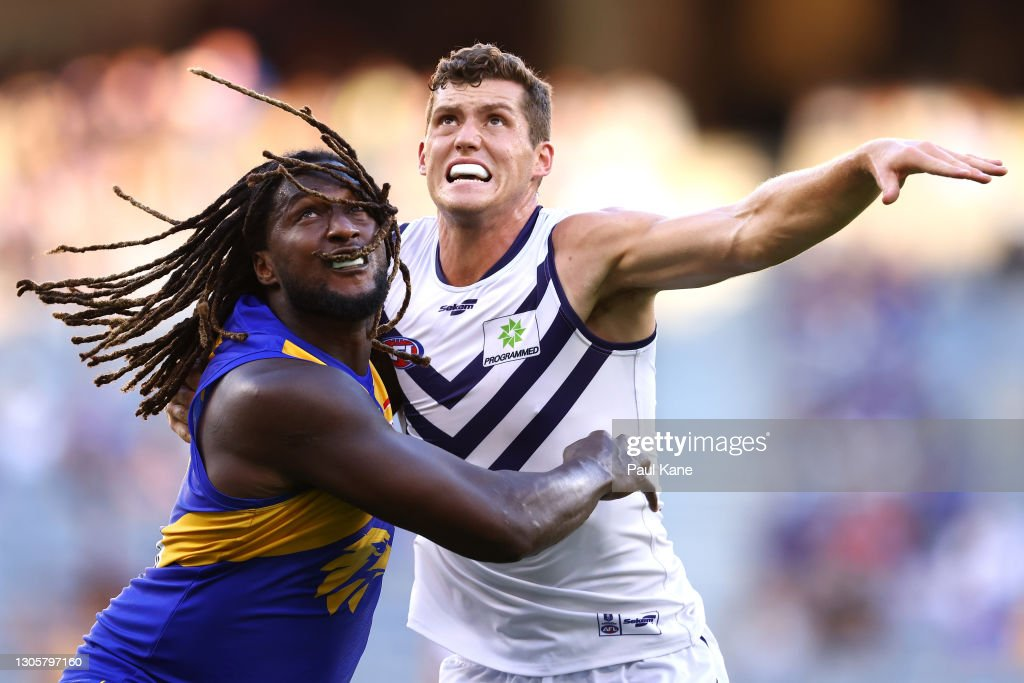 West Coast v Fremantle - 2021 AFL Community Series : News Photo