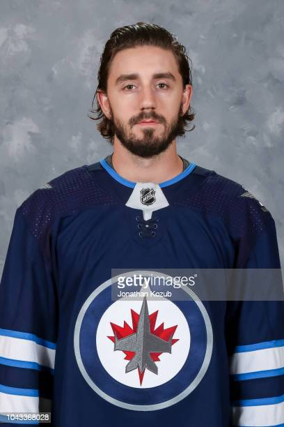 Nic Petan of the Winnipeg Jets poses for his official headshot for the 20182019 season on September 13 2018 at the Bell MTS Iceplex in Winnipeg...