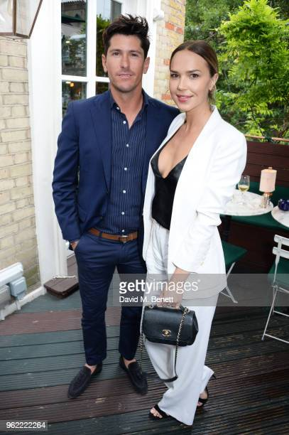 Nic Roldan and Arielle Kebbel attend a private dinner hosted by Cartier to celebrate the opening of the British Polo Season at Casa Cruz on May 24...