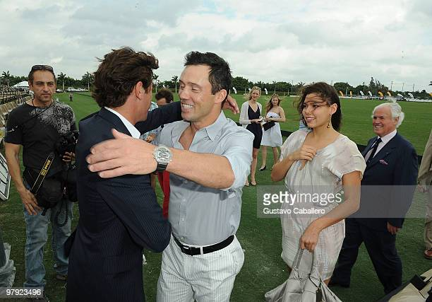 Nic Roldan, Jeffrey Donovan, Michelle Woods and Yves Piaget attend the Piaget Gold Cup at the Palm Beach International Polo Club on March 21, 2010 in...