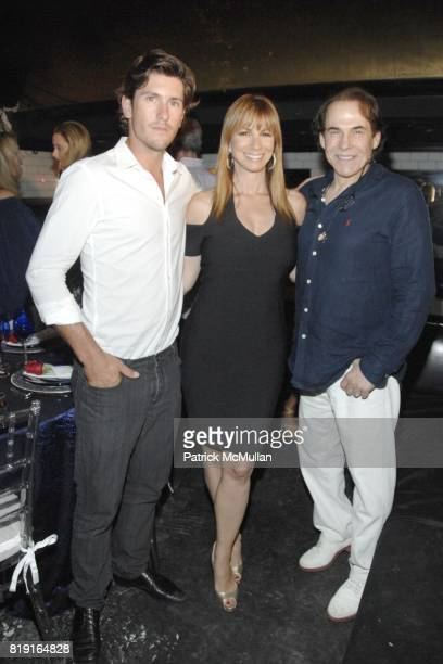 Nic Roldan, Jill Zarin and R. Couri Hay attend Nic Roldan, Shamin Abas and Tracy Mourning Host Hamptons Social Series Dinner For St. Jude's at Lily...