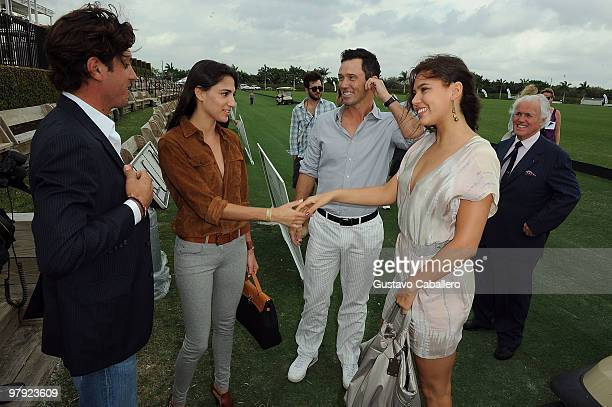 Nic Roldan, Nicole Davis, Jeffrey Donovan, Michelle Woods, and Yves Piaget attend the Piaget Gold Cup at the Palm Beach International Polo Club on...