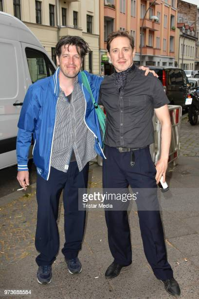 Nic Romm and Timo Jacobs attend the film preview of 'Der Sportpenner' on June 13, 2018 in Berlin, Germany.