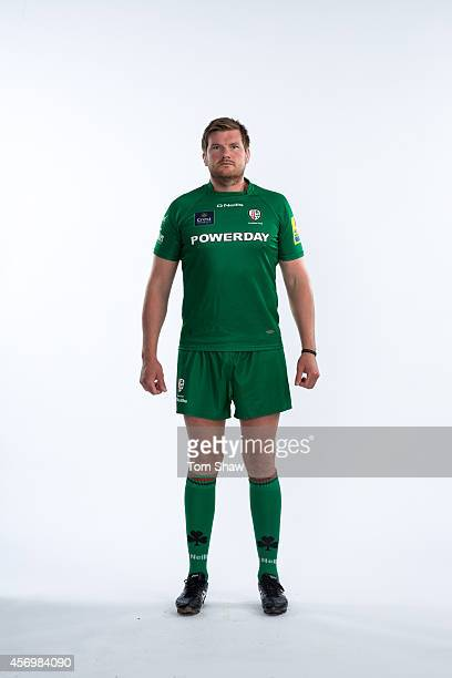 Nic Rouse of London Irish poses for a picture during the BT PhotoShoot at Sunbury Training Ground on August 27 2014 in Sunbury England