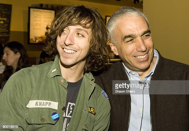 Nic Sheff and Author David Sheff appear in a New York City Starbucks store kicking off a ninecity Starbucks tour promoting his new memoir Beautiful...