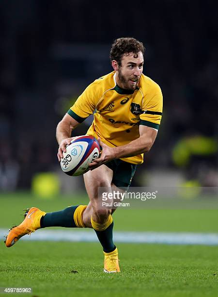 Nic White of Australia runs with the ball during the QBE international match between England and Australia at Twickenham Stadium on November 29 2014...