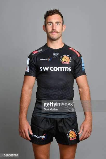 Nic White of Exeter Chiefs poses for a portrait during the Exeter Chiefs squad photo call for the 2018-19 Gallagher Premiership Rugby season at Sandy...
