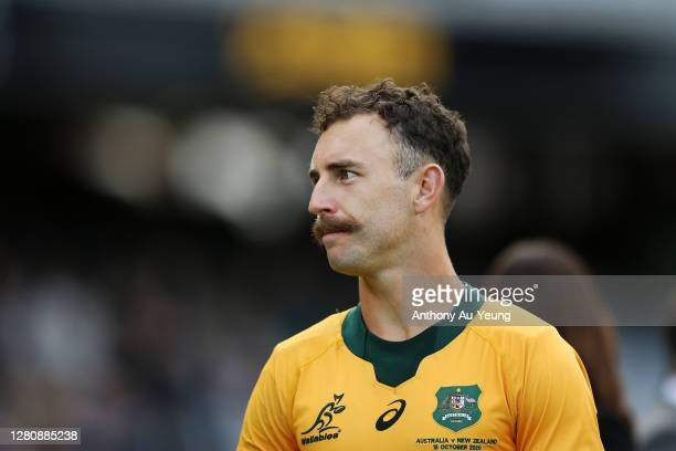 Nic White of the Wallabies looks on after losing the Bledisloe Cup match between the New Zealand All Blacks and the Australian Wallabies at Eden Park...