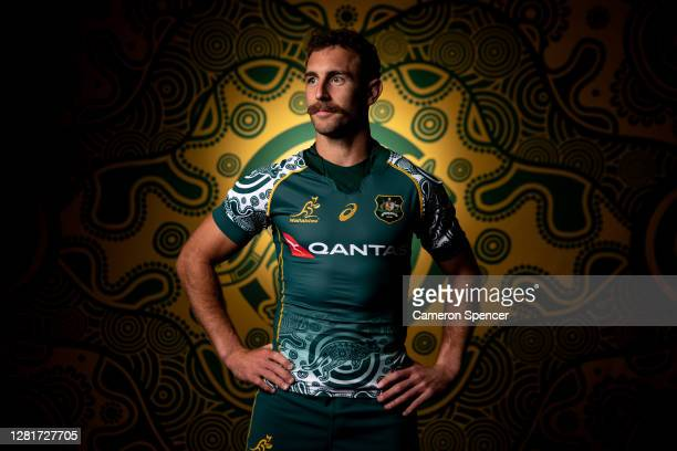 Nic White of the Wallabies poses during the Australian Wallabies 2020 First Nations Jersey portrait session on October 22 2020 in the Hunter Valley...