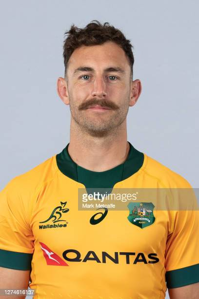 Nic White poses during the Australian Wallabies rugby team headshots session at the Crowne Plaza on September 21 2020 in the Hunter Valley Australia
