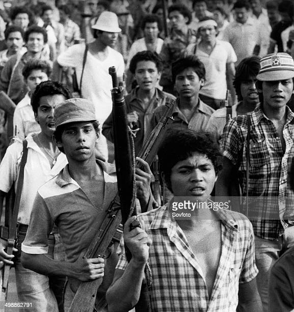 Nicaragua Members of the People's Militia who fight along side the Sandinista Popular Army June 1983