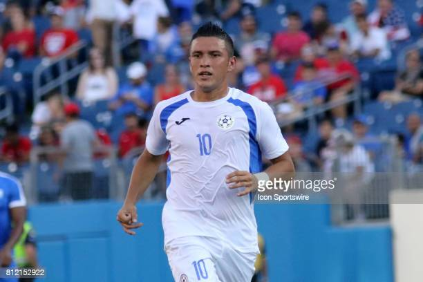 Nicaragua midfielder Luis Galeano during the group stage match of the CONCACAF Gold Cup between Nicaragua and Martinique on July 08 2017 Martinique...