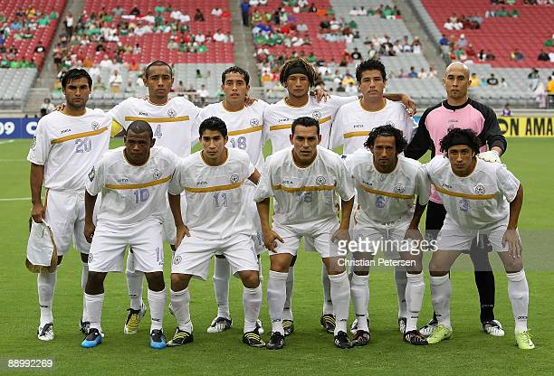 Nicaragua poses for a team photo before the 2009 CONCACAF Gold Cup competition at University of Phoenix Stadium on July 12 2009 in Glendale Arizona...
