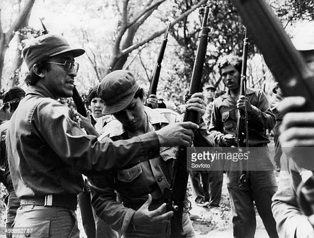 Nicaragua Training of the volunteer People's Militia in the mountains North of Managua Sandinista Popular Army January 1983