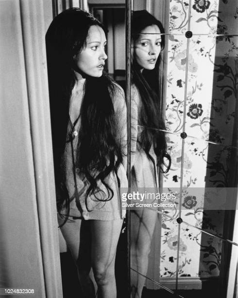 Nicaragua-born actress Barbara Carrera as Victoria Spencer in a scene from the science fiction film 'Embryo', 1976.
