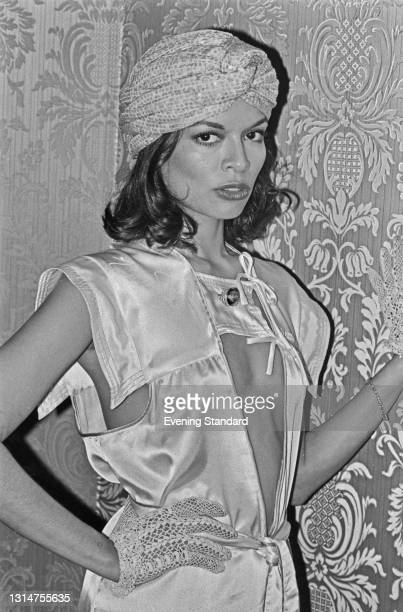 Nicaraguan actress Bianca Jagger, the wife of Rolling Stones frontman Mick Jagger, UK, 5th August 1974.