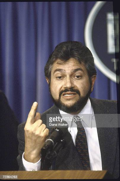 Nicaraguan Contra leader Alfonso Robelo during Press conference at the White House