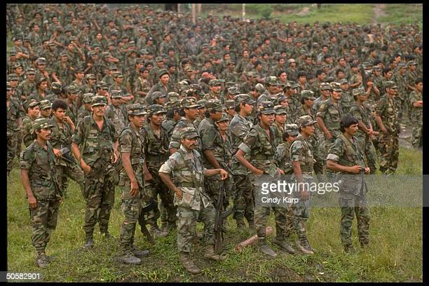 Nicaraguan contra rebels at/nr camp in Yamales Honduras
