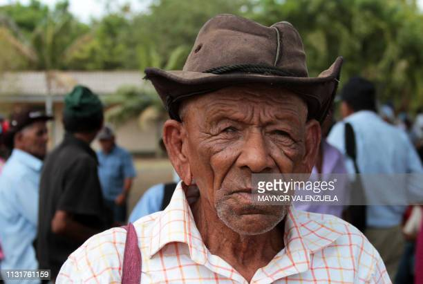 Nicaraguan Felix Martinez Aguirre, one of thousands physically or psychologically affected by pesticide Nemagon, poses for a picture during a meeting...