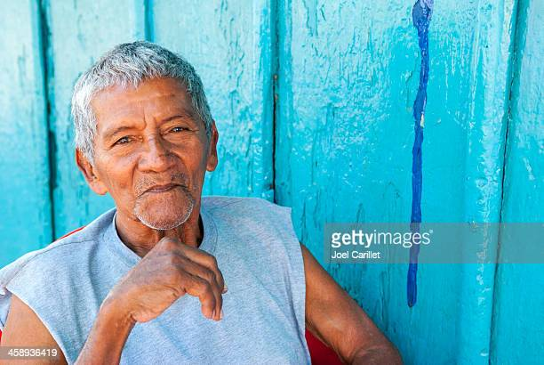 portrait of a nicaraguan man - central america stock pictures, royalty-free photos & images