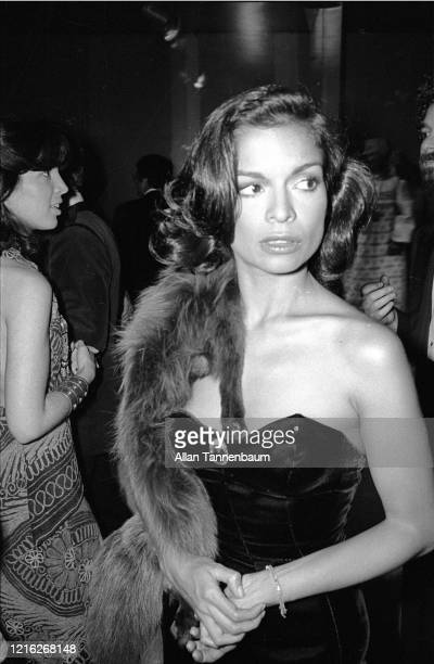 Nicaraguan model and actress Bianca Jagger attends the Glory of Russian Costume Exhibition held in the Metropolitan Museum of Art Costume Institute...
